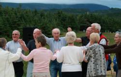 group of happy elderly